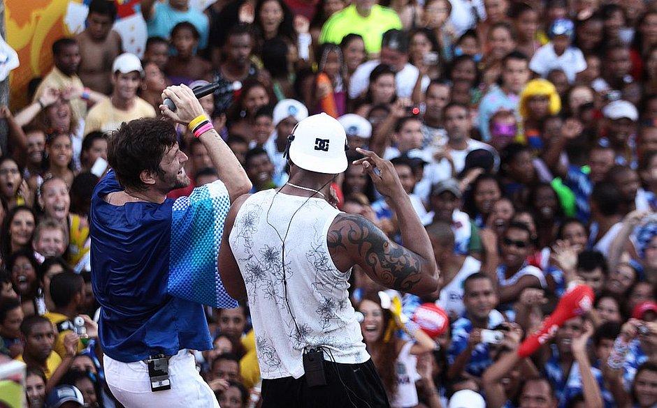 Saulo e Léo Santana no Carnaval de 2010