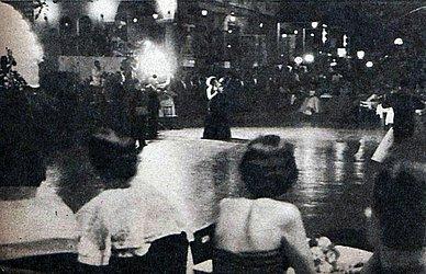 Recepção com baile no Bahiano de Tênis, clube pelo qual se candidatou ao Miss Bahia. Era a candidata também do Fantoches e Associação Atlética