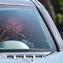 Messi chegou com 1h30 de antecedência