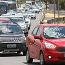 Motoristas de Uber protestaram contra projeto de lei em Salvador nesta segunda