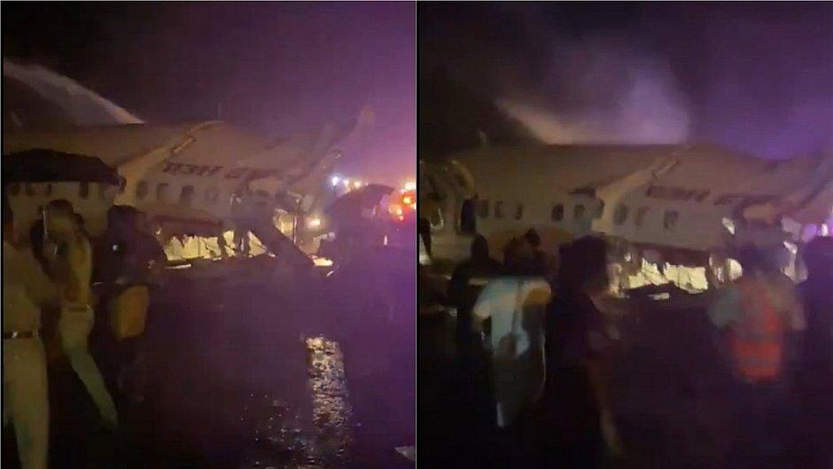 Avião com 191 passageiros se parte em dois na Índia e deixa três mortos e 35 feridos