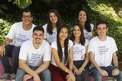 Integrantes da 13ª turma do projeto Correio de Futuro