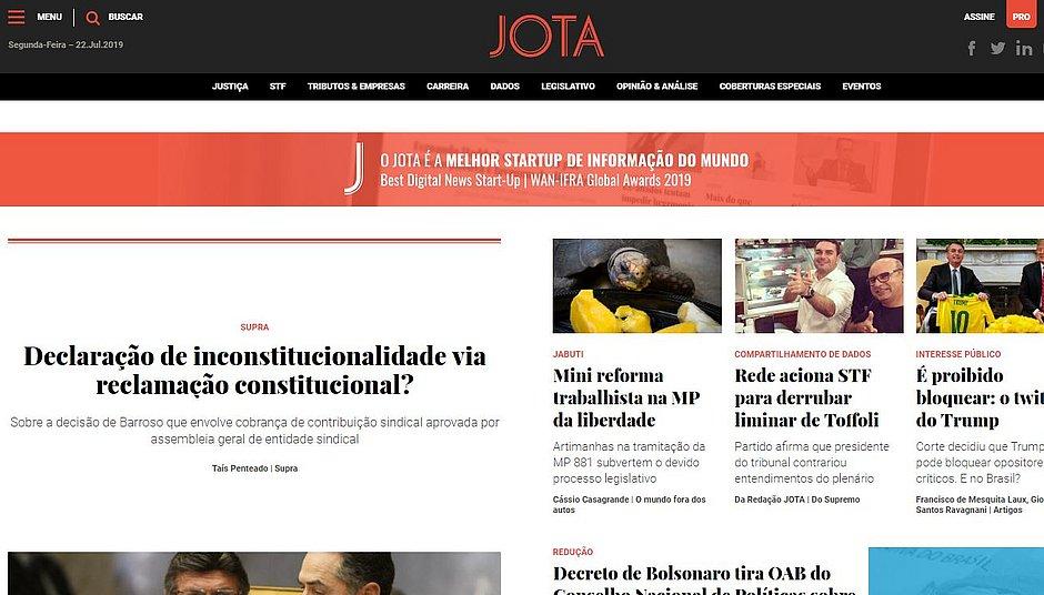 Conheça o Jota, o site que, na crise, conseguiu crescer com a cobertura do Judiciário