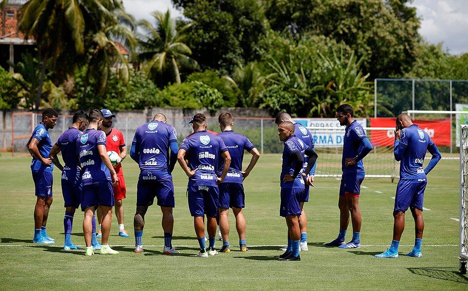 Tricolor voltou aos treinos no Fazendão