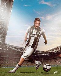Totti com a camisa da Juventus