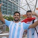 Irmãos argentinos Isaias e Patrício Sierra tentaram, em vão, ver Messi de perto