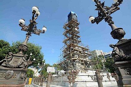 Monumento ao Dois de Julho no Campo Grande passa por reforma
