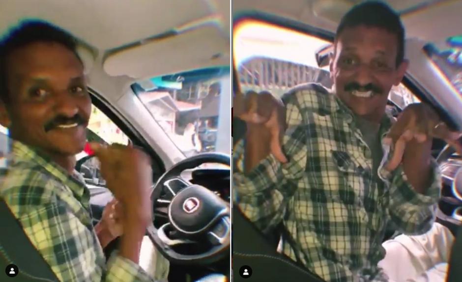 Paolla Oliveira mostra reação de motorista de aplicativo ao reconhecê-la