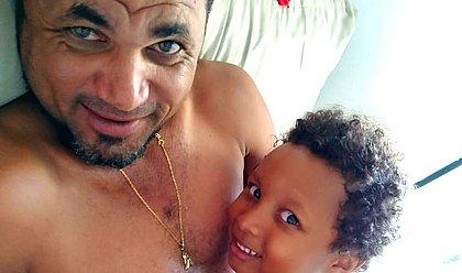Genário da Silva, pai de Gabriel Cabral da Silva, 5, morto envenenado por policial militar (Foto: Acervo Pessoal)