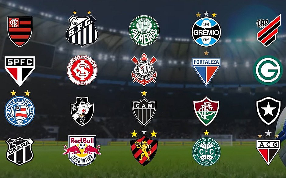 Os 20 clubes que disputarão a Série A nessa temporada