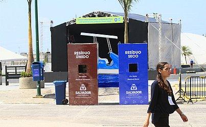 Separação de resíduos na Cidade do Clima