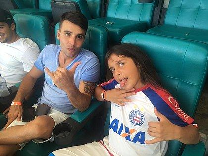 Daniel Cady e Marcelo Sangalo acompanharam triunfo do Bahia