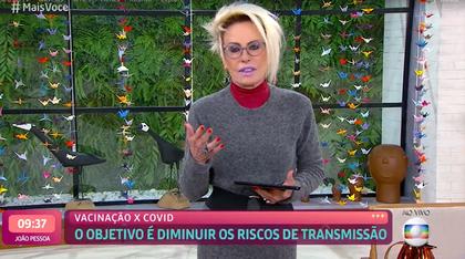 Ana Maria volta à TV e fala sobre a covid: 'foi um susto'
