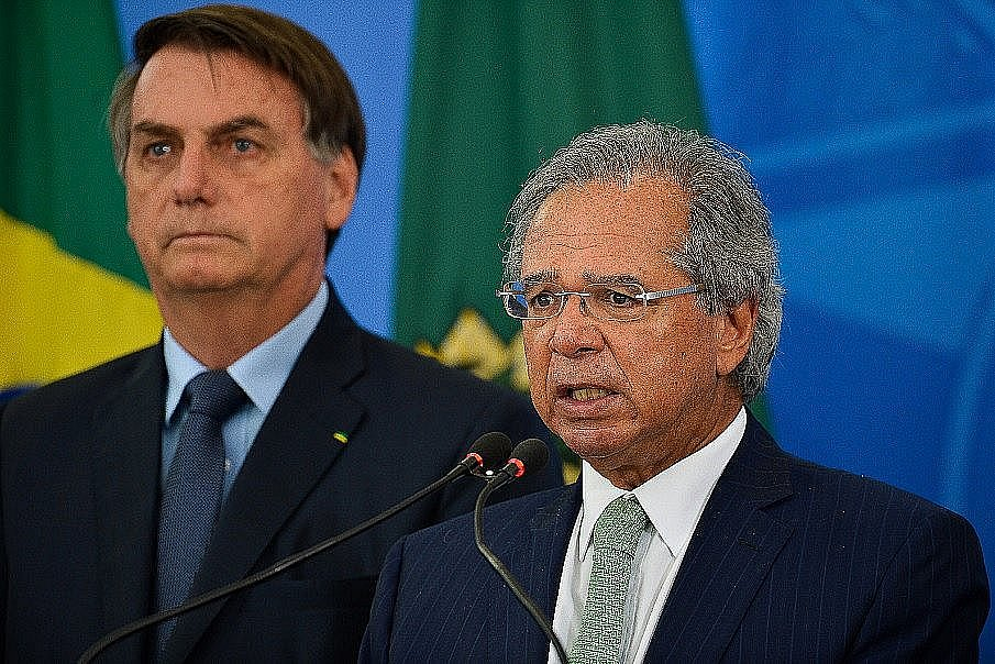 Presidente Jair Bolsonaro e ministro da Economia Paulo Guedes