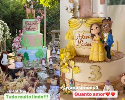 Ivete Sangalo mostra dupla decoração do aniversário das gêmeas Helena e Marina