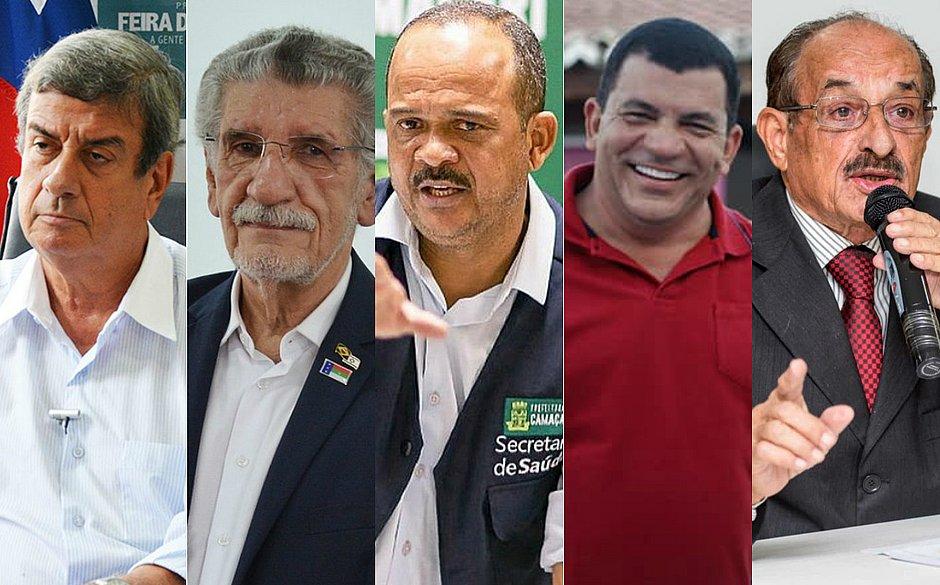 Colbert Martins (Feira), Herzem Gusmão (Conquista), Elinaldo Araújo (Camaçari), Paulo Bomfim (Juazeiro) e Fernando Gomes (Itabuna) disputam reeleição