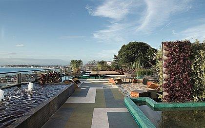 A proposta foi criar um espaço de descompressão e relaxamento para os visitantes da CASACOR