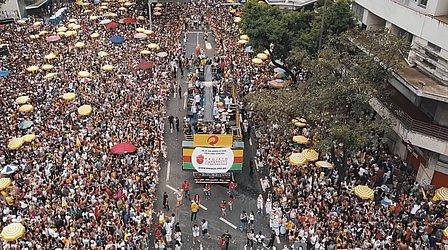 Vista aérea do desfile em 2019