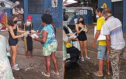 Adolescente de Salvador celebra aniversário de 15 anos doando quentinhas
