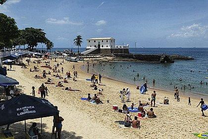 Porto da Barra tem praia imprópria (Foto: Arisson Marinho/CORREIO)