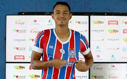 Lucas Araújo Foi apresentado na Cidade Tricolor e falou pela primeira vez como jogador do Bahia