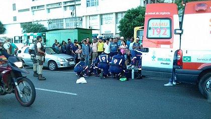 Mulher é atropelada em frente ao Terminal Náutico de Salvador