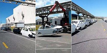 Ford de Camaçari destrói 900 unidades inacabadas de Ka e Ecosport; veja vídeo