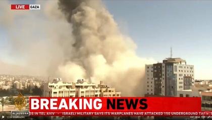 Bombardeios de Israel destroem prédio com escritórios da Al Jazeera