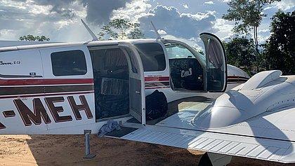 PF e caças da FAB interceptam avião com meia tonelada de cocaína em Porto Velho