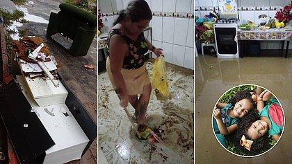 Casa de modelos gêmeas é inundada após chuvas em Salvador