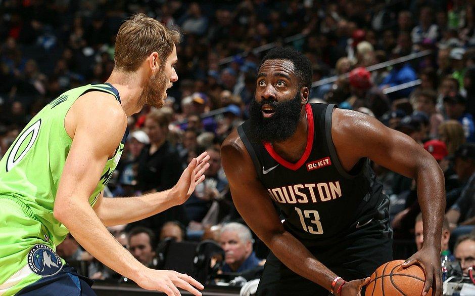 James Harden dá show na rodada da NBA
