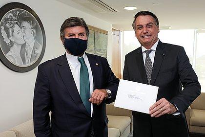 PRESIDENTE BOLSONARO SE REUNE COM O PRESIDENTE DO STF