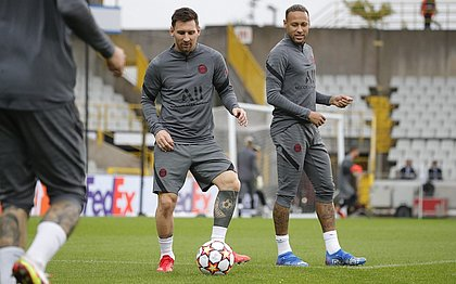 Messi e Neymar: PSG enfrenta o Brugge nesta quarta-feira (15)