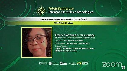 Estudante da UFRB ganha Prêmio Destaque em Iniciação Científica e Tecnológica