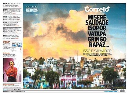 Capa com homenagem a Salvador rende premiação internacional ao CORREIO