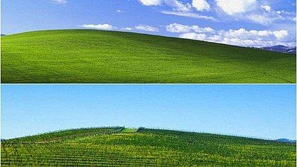 Jornalista encontra local exato do papel de parede do Windows XP
