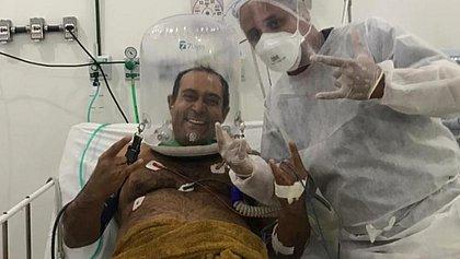 Capacete-respirador é utilizado em Feira para dar mais conforto aos pacientes