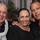 Mirna, entre Paulo e Christiano: empresária morreu vítima do coronavírus
