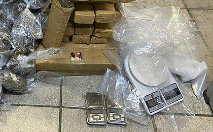 40 kg de maconha são apreendidos em carro de aplicativo no bairro do Comércio
