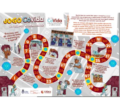 Jogo de tabuleiro ensina crianças a se prevenir contra o coronavírus