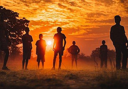 Pôr do Sol na província de Cuangar, em Angola