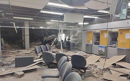 Bandidos explodem agência bancária em Conceição do Almeida