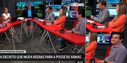 Jornalista da Globo News cai em 'gemidão' do WhatsApp ao vivo