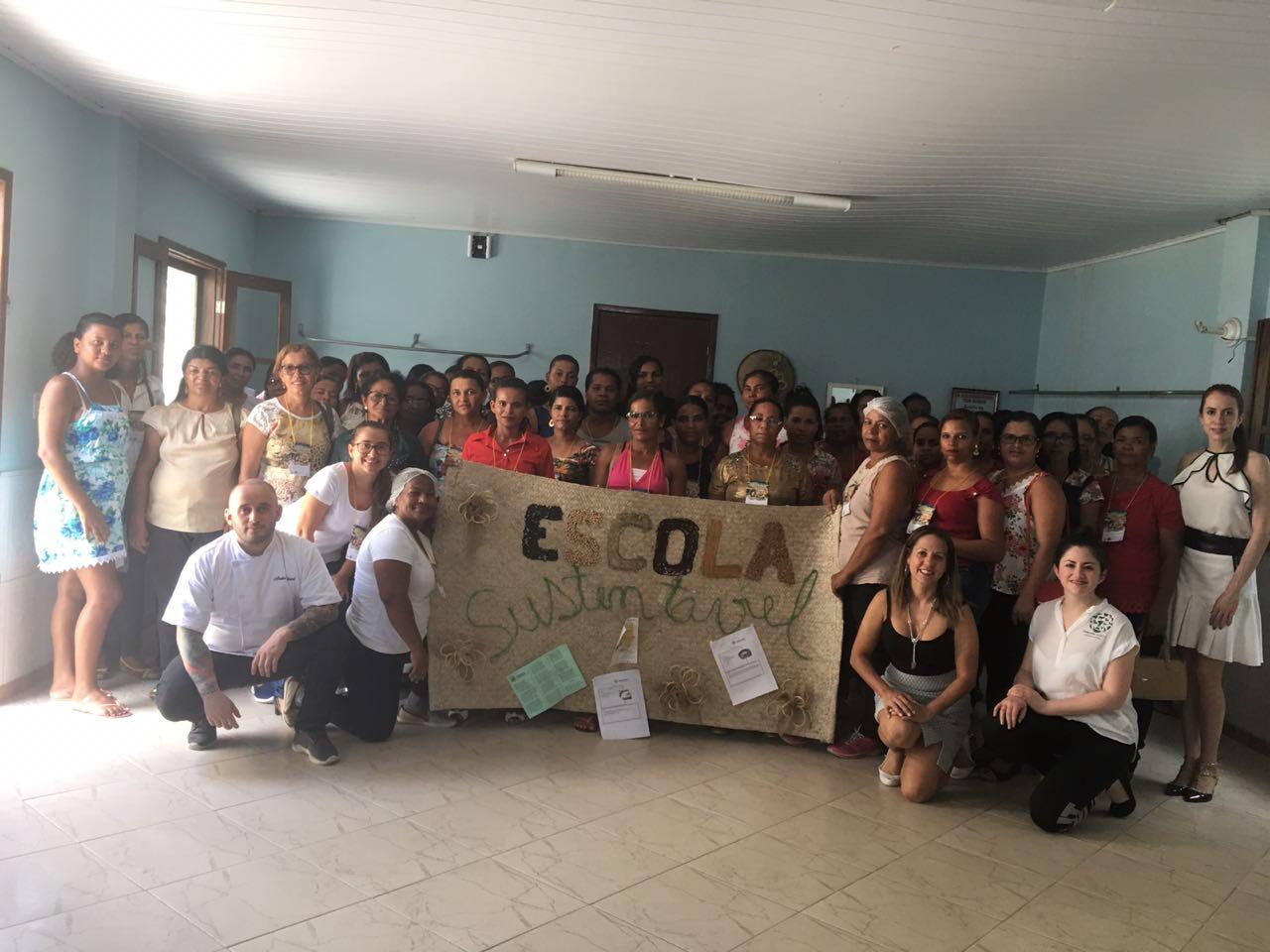 Capacitação das merendeiras de Biritinga, uma das cidades que adotaram programa