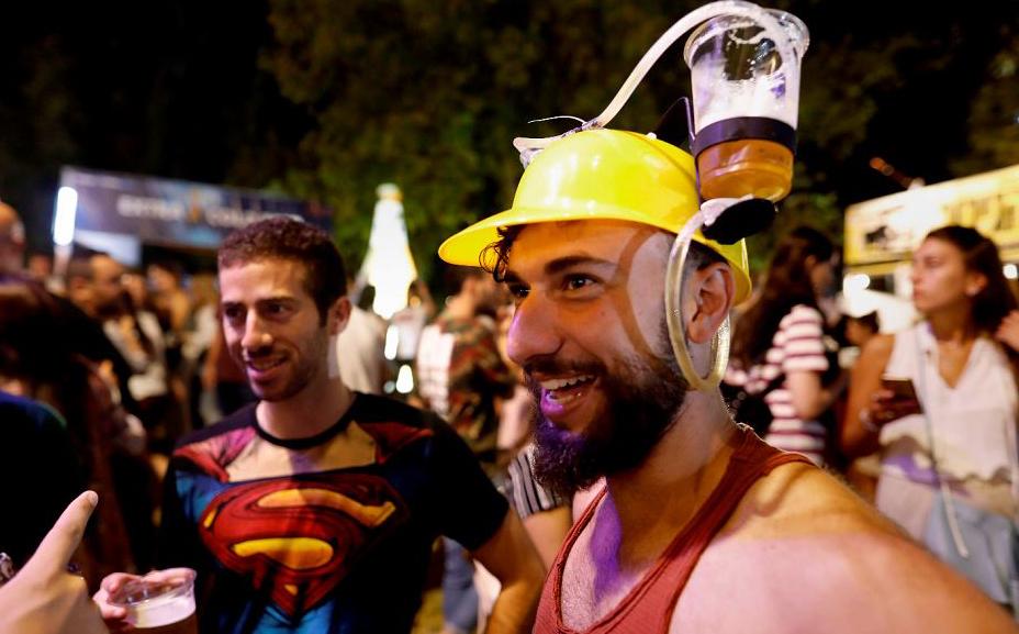 14ª edição do Festival de cerveja de Jerusalém.