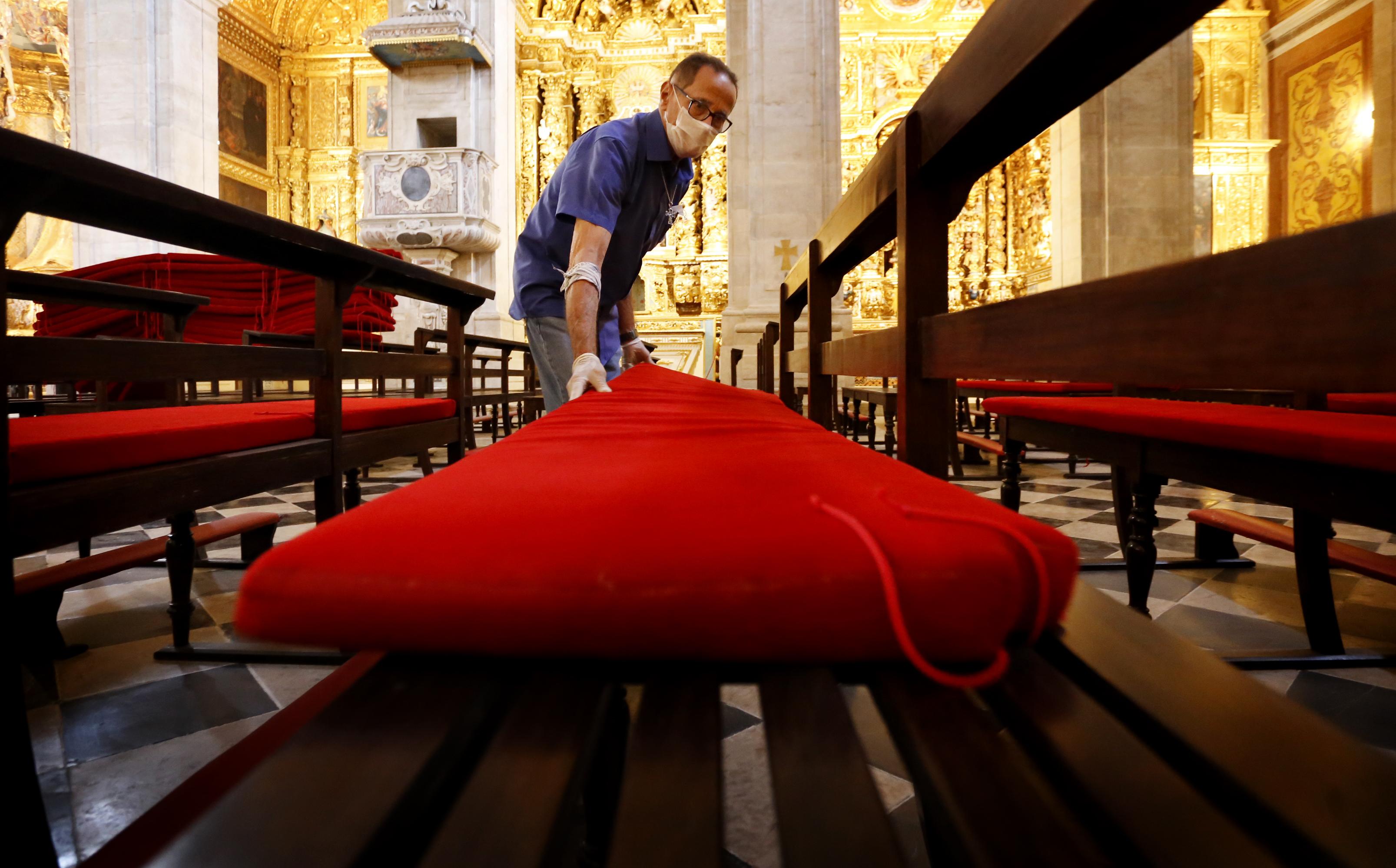 A primeira Missa pós restauro acontecerá hoje, dia 14 de Setembro, às 17h00.