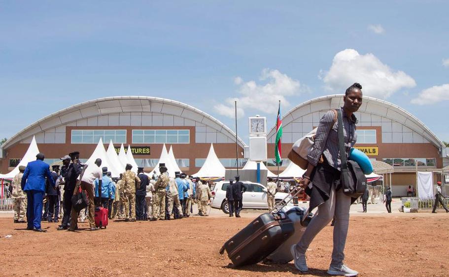 Novo terminal do Aeroporto Internacional de Juba, no Sudão do Sul.