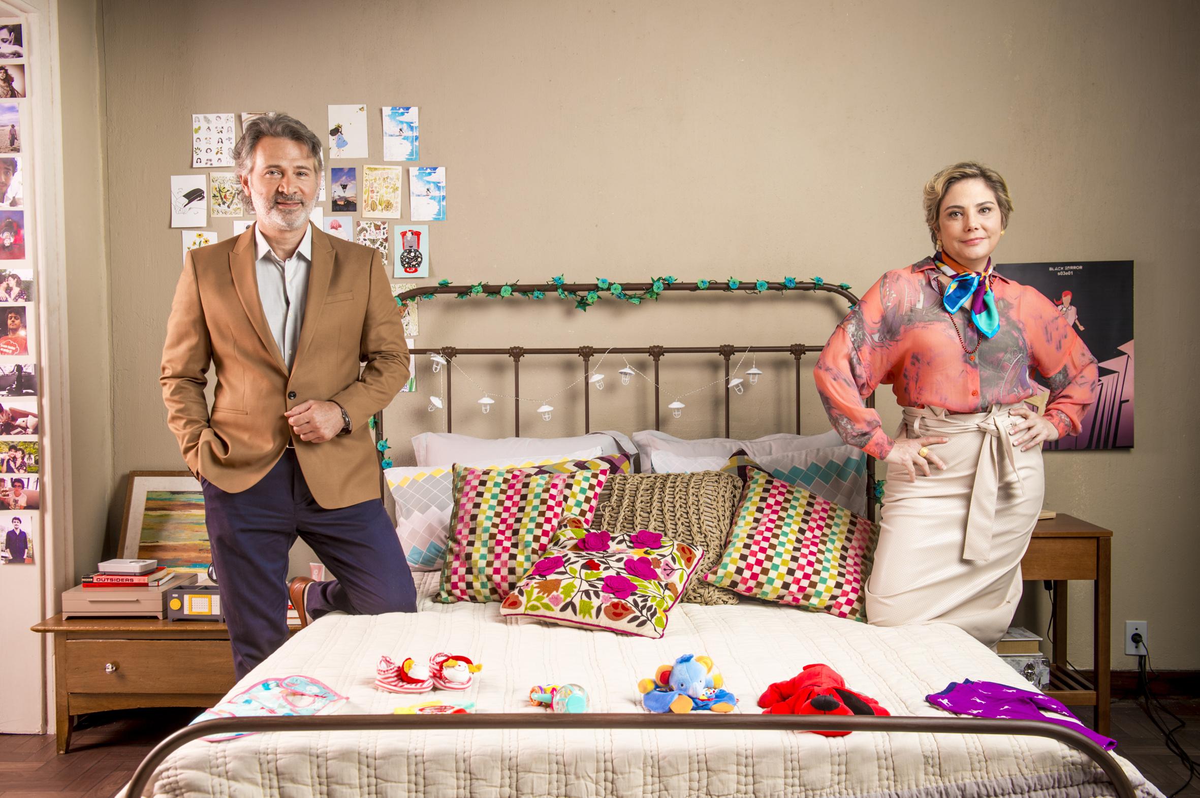 Luis Augusto (Nelson Freitas) e Silvia (Heloisa Perisse)