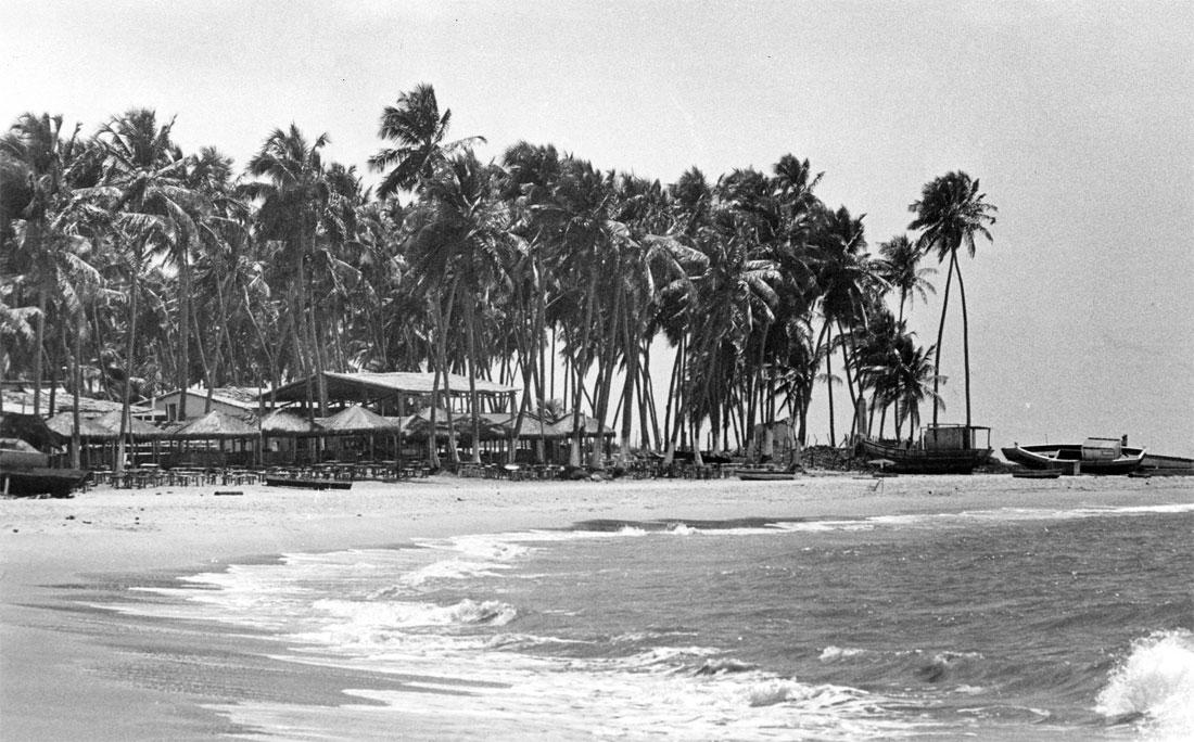 Praia no Litoral Norte em 1990