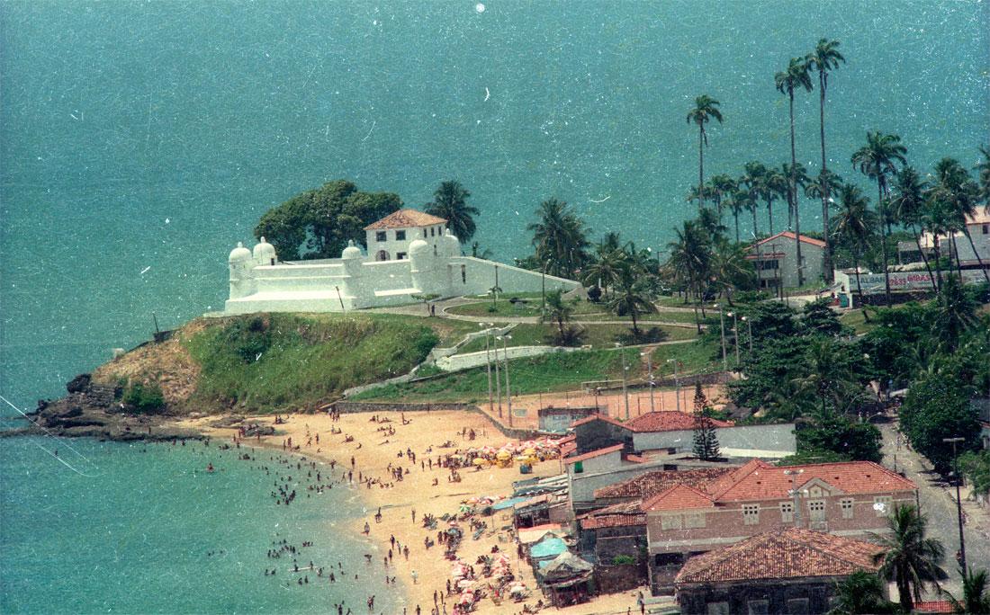 Janeiro de 1997, vista aérea de Ponta de Humaitá